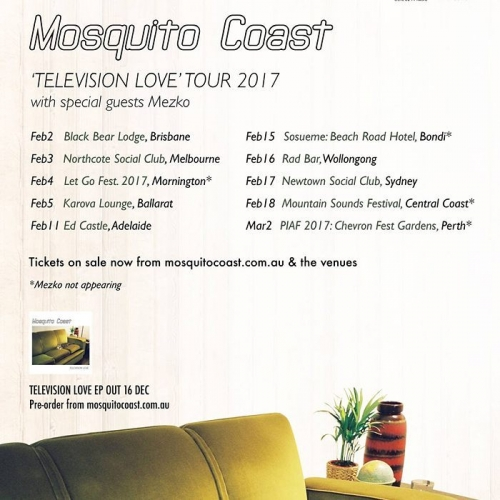Like your indie tunes super fresh and sun-kissed? Perth duo Mosquito Coast are about to release new EP 'Television Love' that'll be chock full of 'em! 🌞😎🌞😎 They're launching it here on Friday February 3rd and you can sweep your tickets up now via northcotesocialclub.com  #livemusic #melbourne #melbournemusic