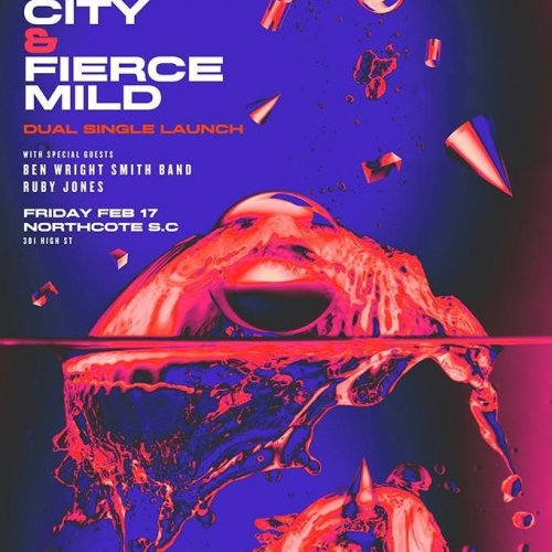 JUST ANNOUNCED: Psych-rock bud bands Pretty City and Fierce Mild are teaming up for an evening of glam-filled fuzz and scuzz when they both launch their new singles here next month.  Ticktes on sale now via http://bit.ly/2j6LTIu