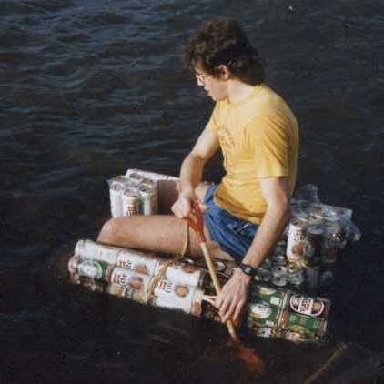 It'll be raining shit loads this weekend so we've decided we're going to build us a raft like this one here to float down High St on. Do your bit for the build and join us for a tinny or two. #beers #tins #weekendbevsrus