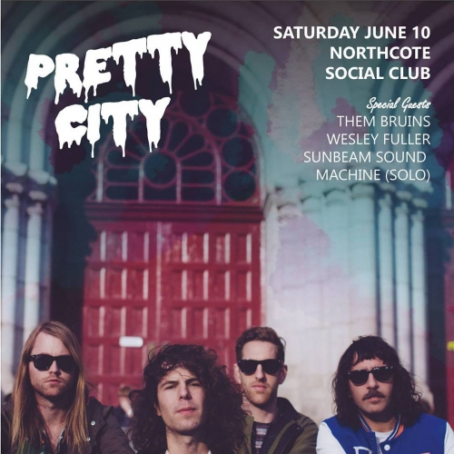 Before they head off on their Eurotrip Melb based psych-rockers Pretty City will be showcasing a tonne of new tunes here on Sat 10 June! Tix on sale now via http://ow.ly/AMNw30c1wWJ