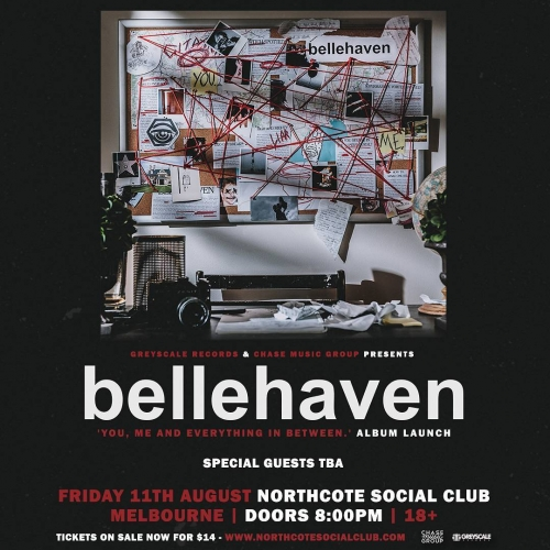 Local post-hardcore legends Belle Haven will be ripping through the NSC in support of their new album 'You, Me and Everything in Between' next month! Tickets on sale now via northcotesocialclub.com. . . . . . #northcotesocialclub #northcote #livemusic #music