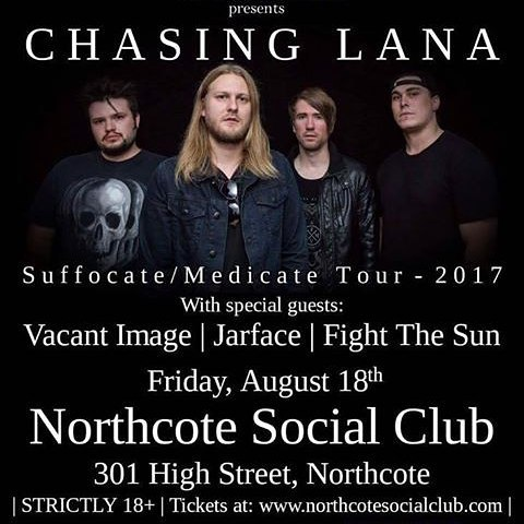 Fancy a bit of hard hitting metal to kick your weekend off with? Then get down to the pub tomorrow night for when Chasing Lana storm the stage in support of their latest album 'Suffocate/Medicate.' 👊 Tickets on sale via thewebsite - link in bio.