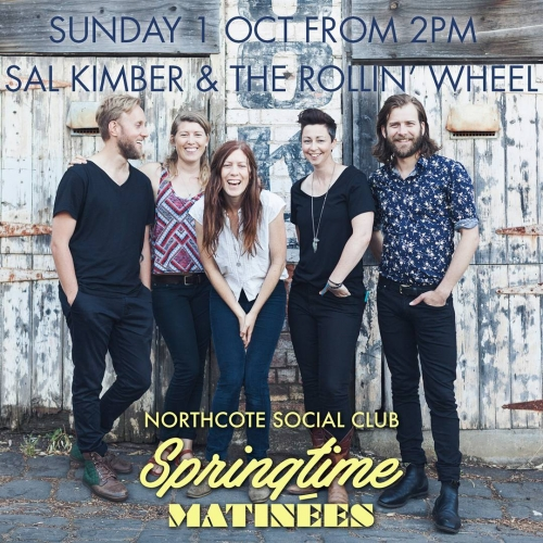🍃SPRINGTIME MATINEE SHOWS🍃 Sal Kimber & The Rollin' Wheel will be swinging in with their breezy brand of alt-country for a springtime matinee show next week! Come down for some Sunday fun with friends - tickets on sale now via the website. Link in bio.