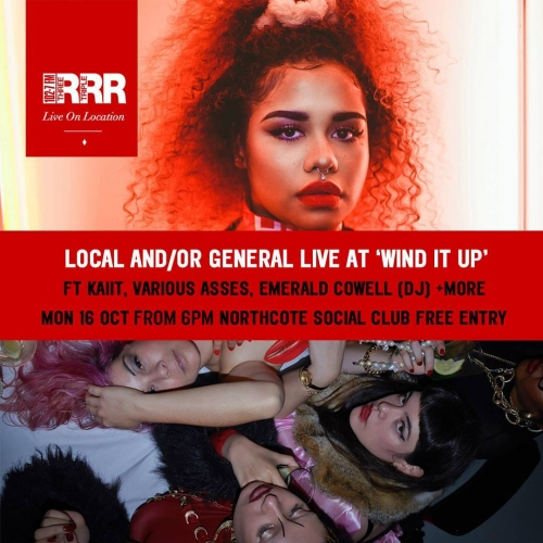 ICYMI Our good buddies Triple R - 3RRR 102.7FM are coming 'round to broadcast live-to-air from our weekly new music night Wind It Up next week!  Set to be a hell of a good night with performances from Kaiit, Various Asses and more! More info + RSVP via our FB page.