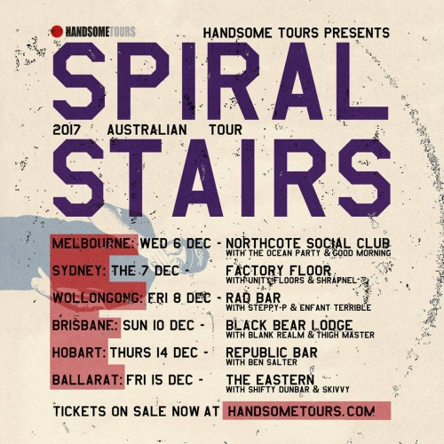 Spiral Stairs (aka Scott from Pavement) is hitting the stage next month and has announced a solid list of supports joining him on the night. Catch him, The Ocean Party and Good Morning on Dec 6th. Tickets via the website → link in bio.
