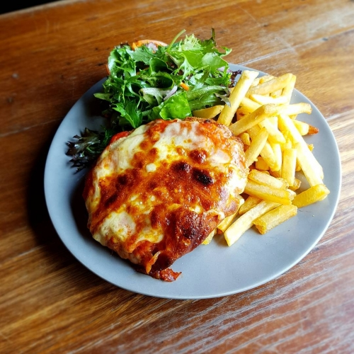Heading to Meredith tomorrow? We've got a parma for that. May as well eat something decent to keep you going until the next time you eat aka your Sunday morning bacon and egg sambo from the tucker tent.