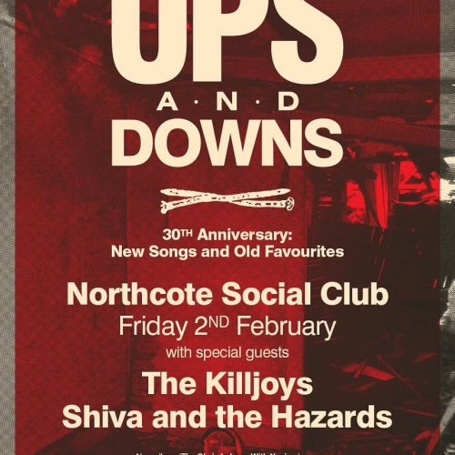 Aussie 80s indie pop legends Ups & Downs have just announced that The Killjoys and Shiva and the Hazards will be opening proceedings at their show here next month!  Tickets ➡️ link in bio.