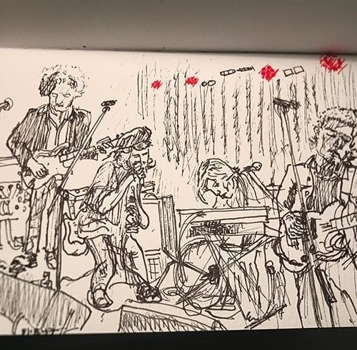How great is this drawing of Jess Ribeiro performing here last year? Forget live music photography, live music illustration is our new fave thing. 📷: @carygunninghan