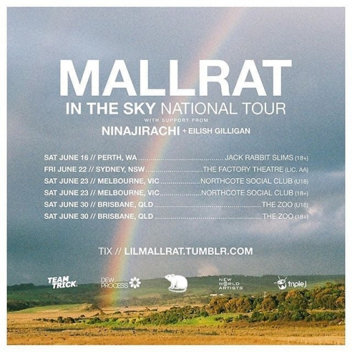 JUST ANNOUNCED: Mallrat's going to be playing two shows here this June including an underage gig to celebrate the release of her new EP. ☀️ Tix on sale Friday!