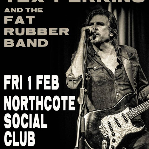 The one and only Tex Perkins is bringing in his Fat Rubber Band next month! Literally only a handful of tix left too so don't snooze and lose ➡️ northcotesocialclub.com
