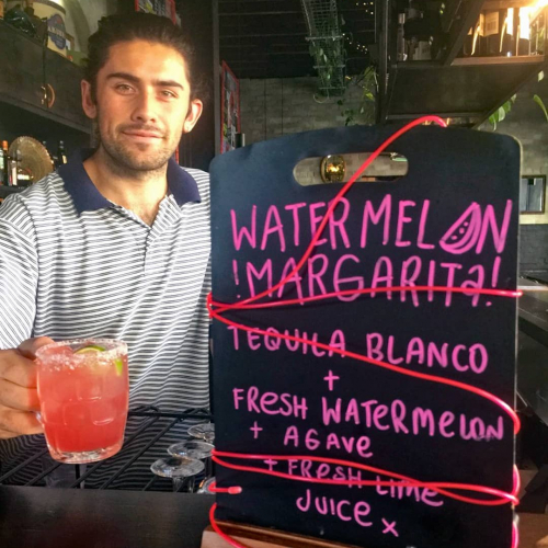 Will your Tuesday be enhanced by the addition of a refreshing tequila based cocktail? Did we come up with this because we watched Dirty Dancing recently and needed an excuse to use watermelon in something? The mind boggles, the pub is open and this tastes good.