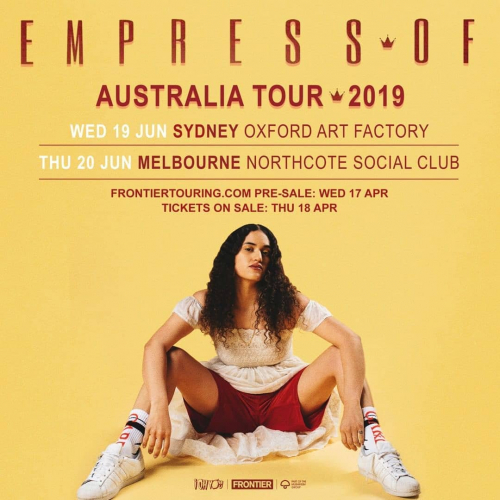 JUST ANNOUNCED: Alt-pop, R&B singer-songwriter Empress Of is hitting our stage for a Dark Mofo sideshow this June! Big. 💥  Tix on sale this Thursday 18 April at midday.