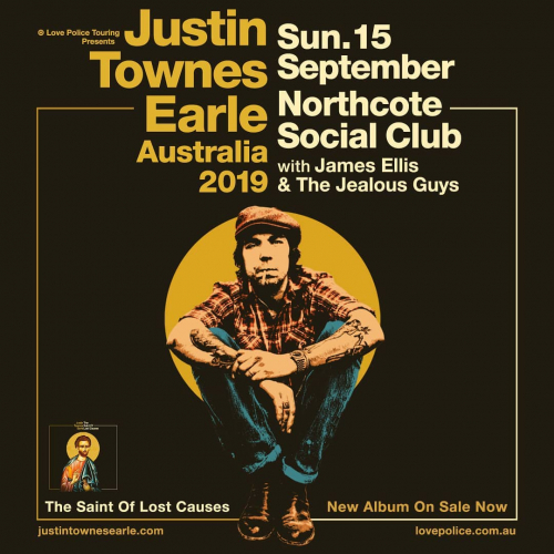 JUST ANNOUNCED: All-time Americana fave @justintownesearle is swinging our way with a heap of new music and old faves this September. Tix on sale now via northcotesocialclub.com.