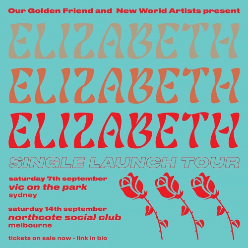 @elizabethmusic___ will be gracing us with their glorious shimmering pop presence this weekend for the launch of debut single 'Parties' and we reckon it's gonna be just that.  Consider this your official invite, info and tickets → northcotesocialclub.com.