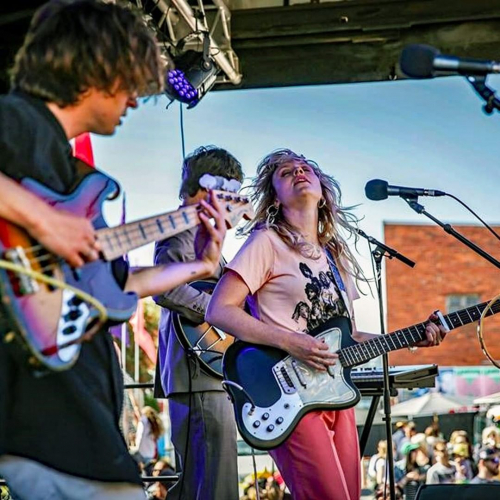 Getting bloody excited for the Darebin Music Feast opening party this Sunday! Here's a ripper shot of @jadeimagineband totally obliterating it at last year's event. 🙏  More info → link in bio.