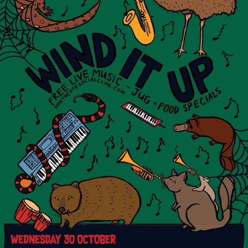 @ubahn.band smashed it here last Sunday so we're so stoked to have them back next Wed for our special spooky edition of Wind It Up!  Ft. David Chesworth and ENOLA (fka Enola Gay), more info → northcotesocialclub.com.