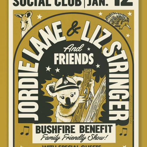 Family-friendly bushfire benefit featuring Jordie Lane and Liz Stringer just announced for this Sunday arvo!  Kicking off at the tot-friendly time of 2pm, tickets are on sale now → northcotesocialclub.com