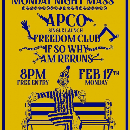 'Uuuge @mondaynightmass on the way next week! With APCO (featuring members of Bench Press) launching their new track alongside a bunch of local faves.  Good times, great classic hits, free from 8pm.