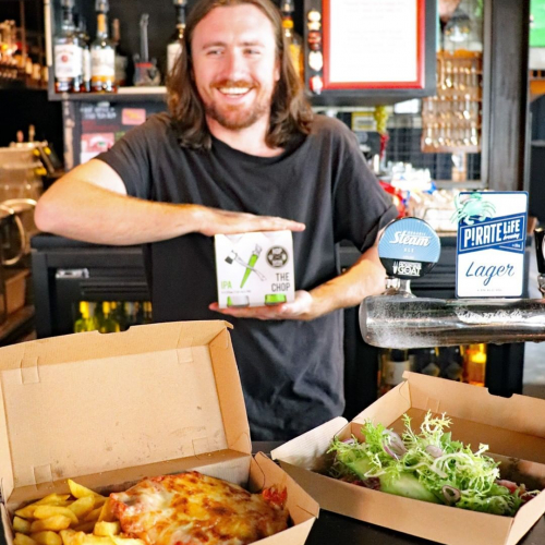 When times get tough.. TAKEAWAY!  We've just launched a brand spankin' takeaway menu featuring a few items from the regular menu plus a selection of beers, wines and cider.  Order at the bar or by calling us on 9489 3917 with payment on pick-up. Menu → in our stories.  Scoff a parma in bed AND support local business at the same time. Winner winner, pub grub for dinner.
